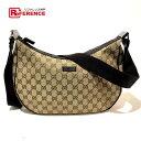 cca040eb5b83aa AUTHENTIC GUCCI Men's Women's Shoulder bag Beige x brown GGCanvasxLeather  122790