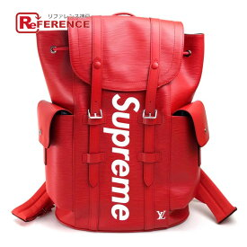 LOUIS VUITTON ルイヴィトン M53414 17AW Supreme Louis Vuitton christopher backpack pm red エピ クリストファーPM バックパック ルイヴィトン×シュプリーム リュック・デイパック エピレザー レッド ユニセックス【新品】