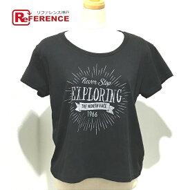 THE NORTH FACE ザ・ノースフェイス アパレル EXPLORING デザイン タグ有 半袖Tシャツ ブラック レディース【中古】