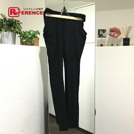 LE CIEL BLEU ルシェルブルー アパレル 変形 ロングパンツ スキニーパンツ ブラック レディース【中古】