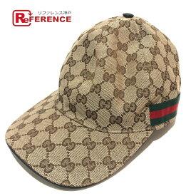 GUCCI グッチ 200035 ベースボールキャップ キャップ帽 タグ有 シェリーライン 帽子 GGキャンバス ベージュ×ブラウン メンズ【中古】
