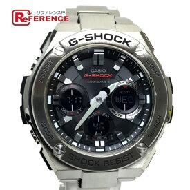 CASIO カシオ W110D-1AJF ソーラー・電波時計 G-SHOCK G-STEEL 腕時計 ステンレス シルバー メンズ 未使用【中古】