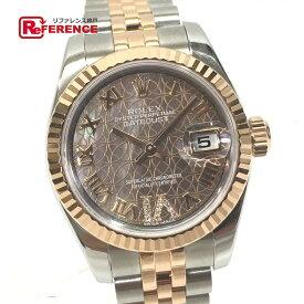ROLEX ロレックス 179171 レディースウォッチ 時計 ロータスフラワー デイトジャスト VI ダイヤ 腕時計 SS/ピンクゴールド ゴールド レディース 新品同様【中古】