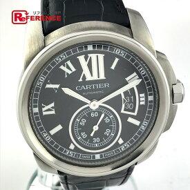 CARTIER カルティエ W7100041 メンズウォッチ 時計 カリブル ドゥ カルティエ Dバックル オートマチック 腕時計 SS/革ベルト シルバー メンズ 新品同様【中古】