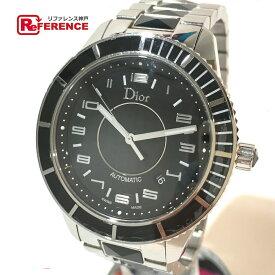 Dior ディオール CD115510 メンズ腕時計 クリスタル デイト 腕時計 SS シルバー メンズ【中古】