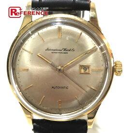 IWC インターナショナルウォッチカンパニー Cal.8531 アンティーク メンズ腕時計 シャウハウゼン デイト 腕時計 GP / SS×革ベルト ゴールド×ブラウン メンズ【中古】