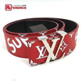 LOUIS VUITTON ルイヴィトン MP015 17aw Supreme Louis Vuitton LV Initiales 40 MM Belt モノグラム サンチュール LV イニシャル ルイヴィトン×シュプリーム ベルト レザー レッド メンズ【新品】