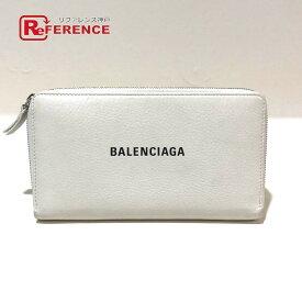 BALENCIAGA バレンシアガ 551935 ラウンドファスナー エブリデイ 長財布(小銭入れあり) レザー ホワイト メンズ【中古】