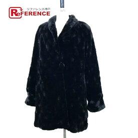 no brand ノーブランド セミロングコート シェアードミンク  毛皮 リバーシブル ファーコート シェアードミンク ブラック レディース【中古】