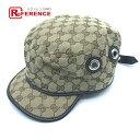 GUCCI グッチ アパレル ファッション小物 キャスケット ワークキャップ GG柄 タグ有り 帽子 GGキャンバス ベージュ系 …