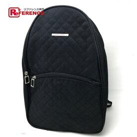 Franco Valentino フランコバレンチノ リュックサック 鞄 バックパック キルティング リュック・デイパック ナイロン ブラック レディース【中古】