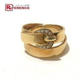 HERMES エルメス ベルト型 2連 ダイヤ リング 小物 アクセサリー リング・指輪 K18YG レディース ゴールド 【中古】