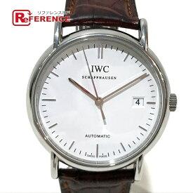 IWC インターナショナルウォッチカンパニー IW353312 メンズ腕時計 cal.30110 ポートフィノ 腕時計 SS×革ベルト メンズ シルバー 【中古】