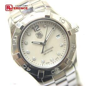 TAG HEUER タグホイヤー WAF1415 アクアレーサー クオーツ 10Pダイヤ レディース腕時計 腕時計 SS レディース シルバー 【中古】