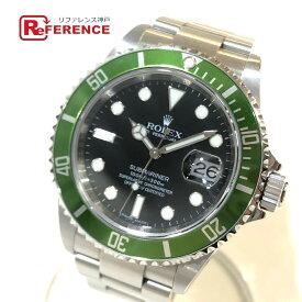 ROLEX ロレックス 16610LV グリーンベゼル 自動巻き サブマリーナ デイト メンズ腕時計 腕時計 SS メンズ シルバー 【中古】