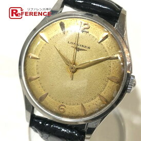 LONGINES ロンジン 手巻き アンティーク メンズ腕時計 腕時計 SS×革ベルト メンズ シルバー 【中古】