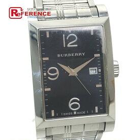BURBERRY バーバリー BU8003 レクタンギュラー デイト 腕時計 SS メンズ シルバー 【中古】