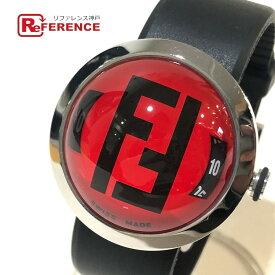 FENDI フェンディ 8010G FFロゴ ブースラ ドーム型 クオーツ 腕時計 SS / ラバーベルト ユニセックス シルバー×ブラック 【中古】