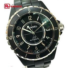 CHANEL シャネル H3131 42mm デイト J12 オートマチック メンズウォッチ 腕時計 ブラックセラミック / SS メンズ ブラック 【中古】