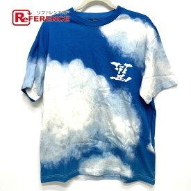 LOUIS VUITTON ルイヴィトン 1A89U4 クラウドプリント トップス 半袖Tシャツ コットン ユニセックス ブルー×ホワイト 【中古】