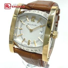 BVLGARI ブルガリ AA39SG コンビ アショーマ デイト 腕時計 K18YG/SS メンズ シルバーイエローゴールド 【中古】