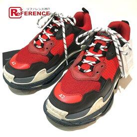 BALENCIAGA バレンシアガ 516440 メンズシューズ 靴 Triple S shoes ユースド加工 トリプルS トレーナー 2018ss スニーカー メンズ ルージュ ルージュ/ノアール 未使用 【中古】