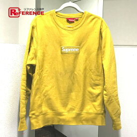 Supreme シュプリーム ボックスロゴ クルーネック トレーナーシャツ スウェット メンズ イエロー マスタード 【中古】
