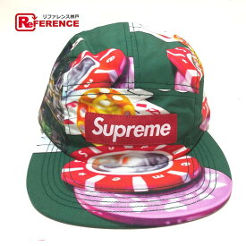 Supreme シュプリーム カジノ キャンプ キャップ 18FW Casino Camp Cap 帽子 メンズ グリーン グリーン 未使用 【中古】