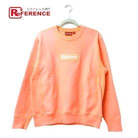 Supreme シュプリーム ボックスロゴ スウェット Box Logo Crewneck Sweatshirt 2018AW スウェット メンズ ピンク 蛍光ピンク 【中古】