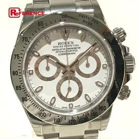 ROLEX ロレックス 116520 ニューバックル(梨地) デイトナ コスモグラフ 自動巻き 腕時計 SS メンズ シルバー 未使用 【中古】