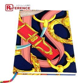 HERMES エルメス シルクノート ブラジル プリント フランス製 ノートブック シルク /紙 ユニセックス ネイビー 未使用 【中古】