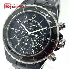 CHANEL シャネル H0940 クロノグラフ J12 デイト 自動巻き 腕時計 セラミック メンズ ブラック 【中古】