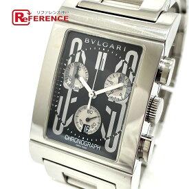 BVLGARI ブルガリ RTC49S デイト レッタンゴロ クロノグラフ クオーツ 腕時計 SS メンズ シルバー 【中古】