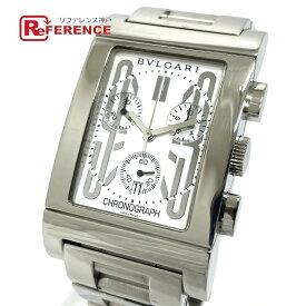 BVLGARI ブルガリ RTC49S デイト レッタンゴロ クロノグラフ クオーツ 腕時計 SS メンズ シルバー 新品同様 【中古】