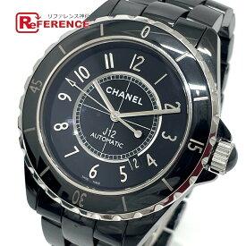 CHANEL シャネル H2980 デイト J12 自動巻き 腕時計 セラミック メンズ ブラック 【中古】