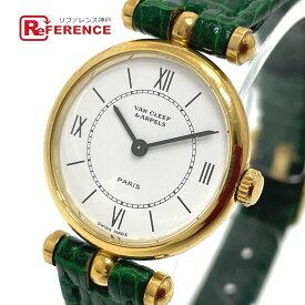 Van Cleef & Arpels ヴァンクリーフ&アーペル 18901 ラ コレクション クオーツ 腕時計 K18YG /レザーベルト レディース ゴールド×グリーン 【中古】