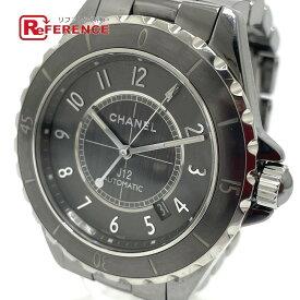CHANEL シャネル H2934 デイト J12 クロマティック 自動巻き 腕時計 セラミック /チタン メンズ グレー 【中古】