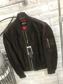メンズ『REPLAY』羊革ブルゾン『ブラウン』(リプレイ)大人気(1万以上のお買い上げで送料無料)(ラッピング無料)M8948-83056-035-80000