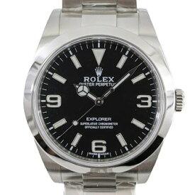 ロレックス ROLEX エクスプローラー1 214270 ランダム番 SS ブラック 自動巻き オートマ 時計 腕時計 メンズ腕時計