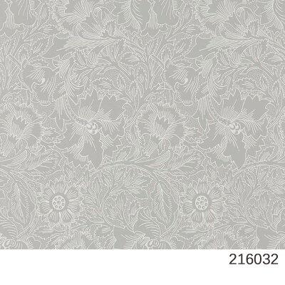 輸入壁紙/イギリス製/PUREMORRIS(ピュアモリス):Morris(ウイリアム・モリス)メーカー品番:216032,216034,216035/PurePoppy(ポピー)/1ロール(巾52cmX10.05m)単位販売/不織布(フリース)/F☆☆☆☆/不燃