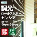 無地/調光ロールスクリーン/新スタイル/2種類のスクリーンで光を調節/TOSOセンシア(調光ロールスクリーン)  巾90cm×丈200cm