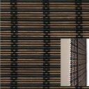 国産/竹/角ばった黒ヒゴでスタイリッシュ/バンブースクリーン 巾176cm×丈約180cm(RC-1520W)