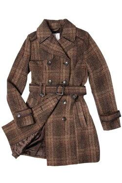 婦人コート肩から袖丈詰め