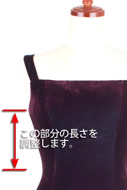 婦人フォーマルドレス身巾調整(バスト〜ウエスト)(レース/ベルベット素材)《往復送料無料♪》