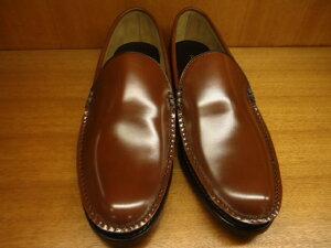 【20%オフ】15DRBC紳士靴リーガル手縫いモカの革底ヴァンプ