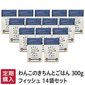 ≪定期購入≫「わんこのきちんとごはん」フィッシュ 300g≪14袋セット≫≪送料無料≫