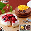 【ハロウィン】 【送料無料】【表参道】カフェ・ル・ポミエ<2種類(約直径11cm)2個入> チョコレートケーキ ベリー…