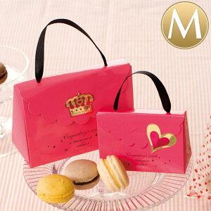 【メール便OK!】(M)プリティピンクミニギフトBOX<W13×H8.7×D5.5(1.7)cm> ピンク 手提げバッグ 紙袋 ラッピング ミニカバン かわいい 女の子