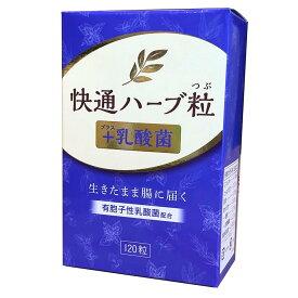 快通ハーブ粒+乳酸菌 120粒 ナチュラルウェーブ 植物性サプリメント 日本製 ハーブ粒 快適 かいつう
