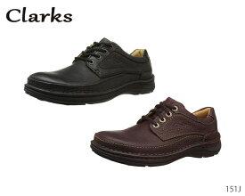 クラークス Clarks カジュアルシューズ ネイチャー スリー Nature III 151J ブラックレザー マホガニーレザー 正規品 メンズ